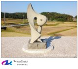 Hand schnitzte moderne abstrakte Statue kundenspezifische Skulptur