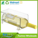 Cremalheira Stackable do armazenamento do vinho para o refrigerador, bancadas da cozinha - preensões 1 frasco, espaço livre