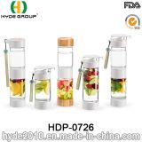Оптовый двойной случай BPA освобождает пластичную бутылку вливания плодоовощ, бутылку Infuser плодоовощ Tritan (HDP-0726)
