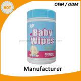 Wipes младенца внимательности кожи 80PCS дешевые в бочонке