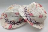$1 sombreros llenos más baratos del sombrero de ala de la impresión para las mujeres con la cinta (CPA_60234)