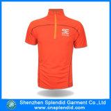 Luva curta Dri respirável alaranjado Jersey de ciclagem apta de Guangdong da roupa