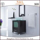 Gabinete de madeira contínuo do espelho do banheiro da vaidade do Washroom do aço inoxidável do PVC do carvalho