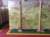Laje verde luxuosa do mármore de Onyx