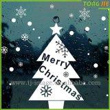 Noël conçoivent le collant transparent de guichet en verre