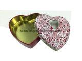 Kleiner netter Schokoladen-Inner-Zinn-Kasten mit freiem Fenster auf Zinn-Kappe