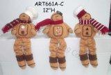 Amigos equipados com pernas do pão-de-espécie da mola, presente da decoração do Asst-Natal 3