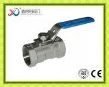 1 robinet à tournant sphérique fileté par PC de flottement d'acier inoxydable avec le certificat de la CE