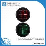 Luz verde roja de la señal de tráfico de 2 de Digitaces de la cuenta descendiente colores del temporizador 2 para el reemplazo