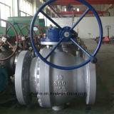 Válvula de esfera de operação de engrenagem de parafuso sem-fim de 3PC Full Bore