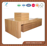 Carrinho de indicador de madeira para a loja