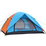 Grünes doppelte Schicht-Großhandelszelt, kampierendes Zelt der Personen-3-4