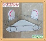Шкаф угла ванной комнаты держателя стены хранения корзины провода
