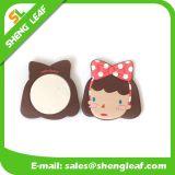 Miroir de maquillage en caoutchouc personnalisé (SLF-RM008)