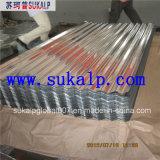 Feuille ondulée de toiture de zinc