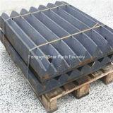 Kiefer-Zerkleinerungsmaschine zerteilt Gussteil-Stahlbacke-Platte