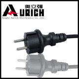 Enchufe francés estándar del cable eléctrico de la pieza inserta del enchufe del VDE de la UE, cable eléctrico de la lámpara de la sal, cuerda de la corriente ALTERNA para la TV