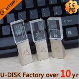 Metal do logotipo de Customerized/movimentação de cristal do flash do USB (YT-3270L)