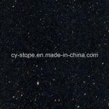 Telha preta de pedra natural do granito da galáxia para bancadas e telhas