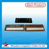 Insigne nommé en aluminium avec les goupilles de sécurité et la garniture intérieure de nom