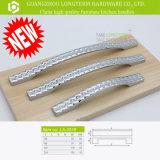 Diamante claro de la tela escocesa de zinc Metarial cocina manija de los muebles de hardware