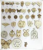 Artisanat de décoration Bouton de couture en bois pour vêtements
