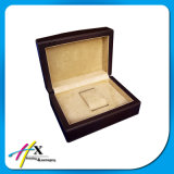 Caixa de madeira luxuosa do envoltório de presente para a caixa de indicador do contador do relógio