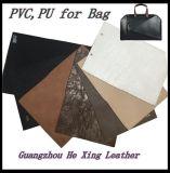 Кожа PVC высокого качества синтетическая для мешка, обуви, бумажника, одежды