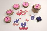 Stuk speelgoed die van het Handvat van de kleur het Plastic RubberZegel voor Kinderen inkten