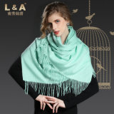 Acessórios de moda Light Green Pashmina Wrap Lady Scarf
