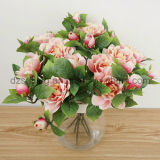 Flor artificial de la selección dulce de la camelia para la decoración (SF15265A)