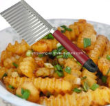 Steel inoxidable Potato Wavy Edged Knife avec Plastic Handle