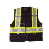 Alto chaleco de la advertencia de la seguridad de la visibilidad de la alta calidad (R170)