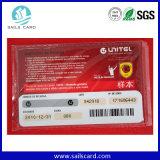 Codes barres imprimés par Dod UV et carte périodique de PVC d'éraflure de numéro