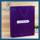 Bolsos de lujo rosados del regalo de Laminationed, bolsas de papel que hacen compras (DM-GPBB-045)