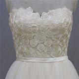 Vestido de casamento nupcial do laço da flor da forma da noite do baile de finalistas
