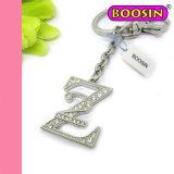 Trousseau de clés procurable en métal de 26 de lettre Rhinestones de l'alphabet «Z»