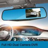 """HD 4.3 """" LCD hinteres Auto DVR der Doppelobjektiv-video Gedankenstrich-Nocken-Schreiber-Auto-Kamera-DVR des Spiegel-HD"""