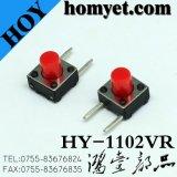 Botón redondo 4pin (INMERSIÓN) del interruptor 6*6m m del tacto de la alta calidad