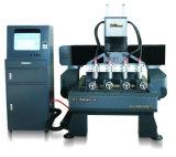 Tamanho pequeno máquina giratória e Flatbed de 7009X900mm do CNC do gravador do CNC de gravura com 4 cabeças