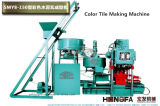Tuile concrète de couleur formant la tuile de toit de la colle de matériel faisant la machine