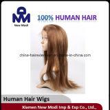 Perruque de lacet de cheveux humains de Vierge pleine