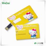 주문을 받아서 만들기를 가진 신용 카드 USB 섬광 드라이브 로고 (WY-C08)를