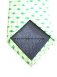 남자를 위한 녹색 허가 실크 넥타이