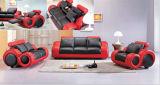 Sofa moderne de cuir de meubles de salle de séjour avec le cuir véritable