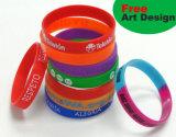 Braceletes com logotipo, bracelete do silicone da forma