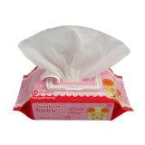 Wipes molhados do bebê livre do produto químico 80PCS com tampa plástica
