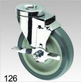Grauer TPR Rad-Schwenker mit Verschluss-Loch-Oberseite-Fußrolle
