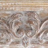 Espelho de madeira da parede do frame do frontão do rolo de Handcarved do estilo europeu
