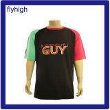 T-shirt promotionnel fait sur commande d'hommes de mode en gros